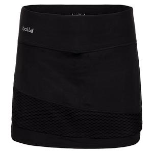 Women`s Brush Strokes Tennis Skort Black