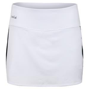Women`s Brush Strokes Tennis Skort White