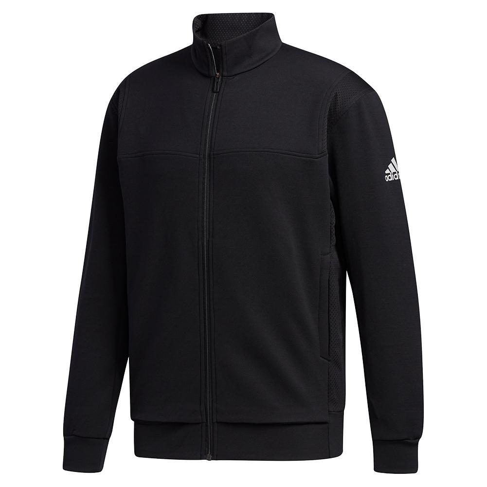 Men's Club Knit Tennis Jacket Black