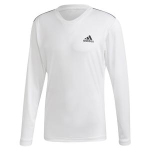 Men`s Club UV Protect Tennis Long Sleeve White and Black