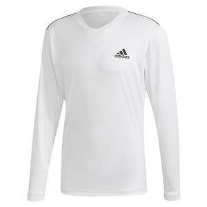 Men`s Club UV Protect Tennis Long Sleeve White and Black