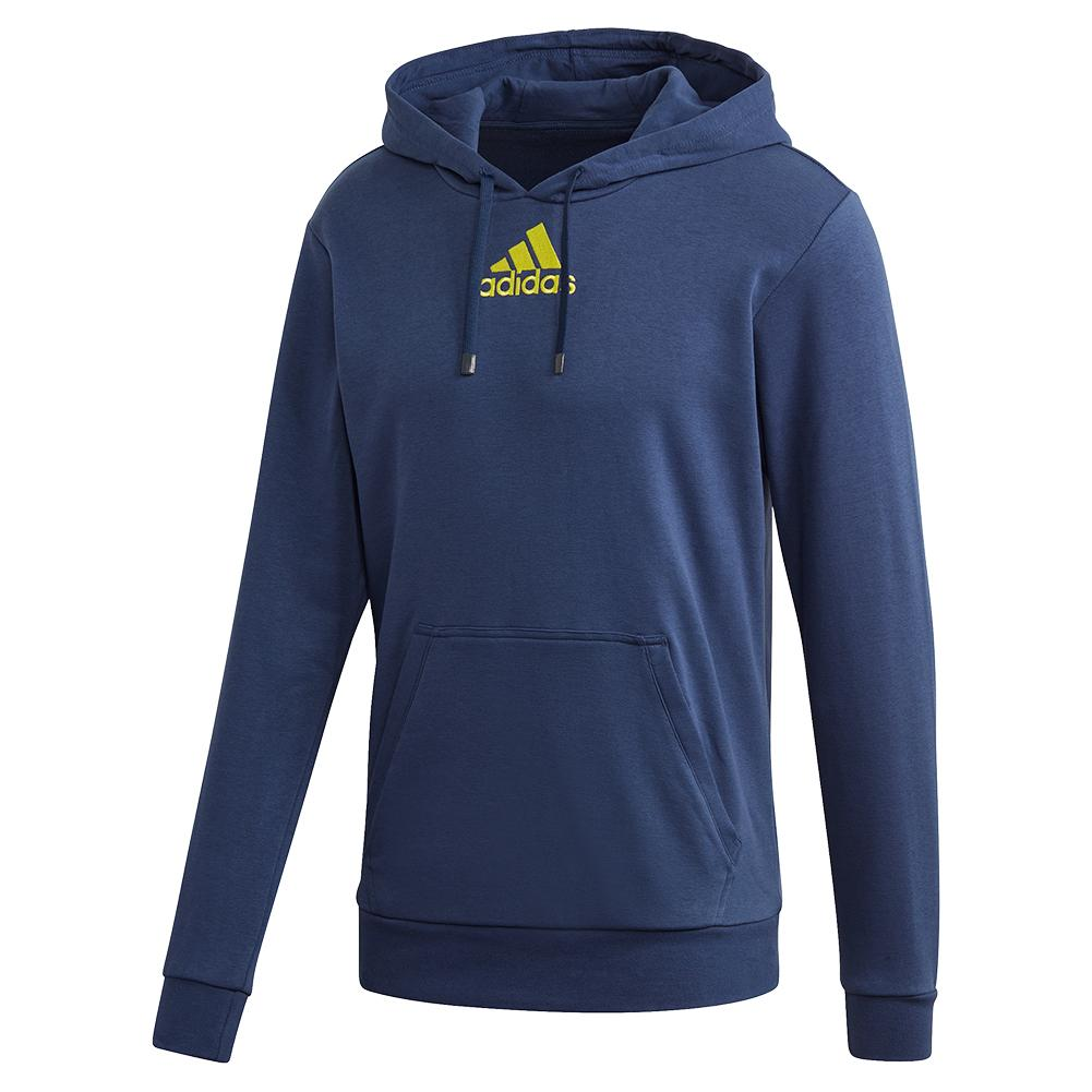 Men's Category Graphic Tennis Hoodie Tech Indigo And Shock Yellow