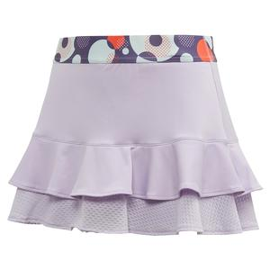 Girls` Frill Tennis Skort Purple Tint and Shock Yellow