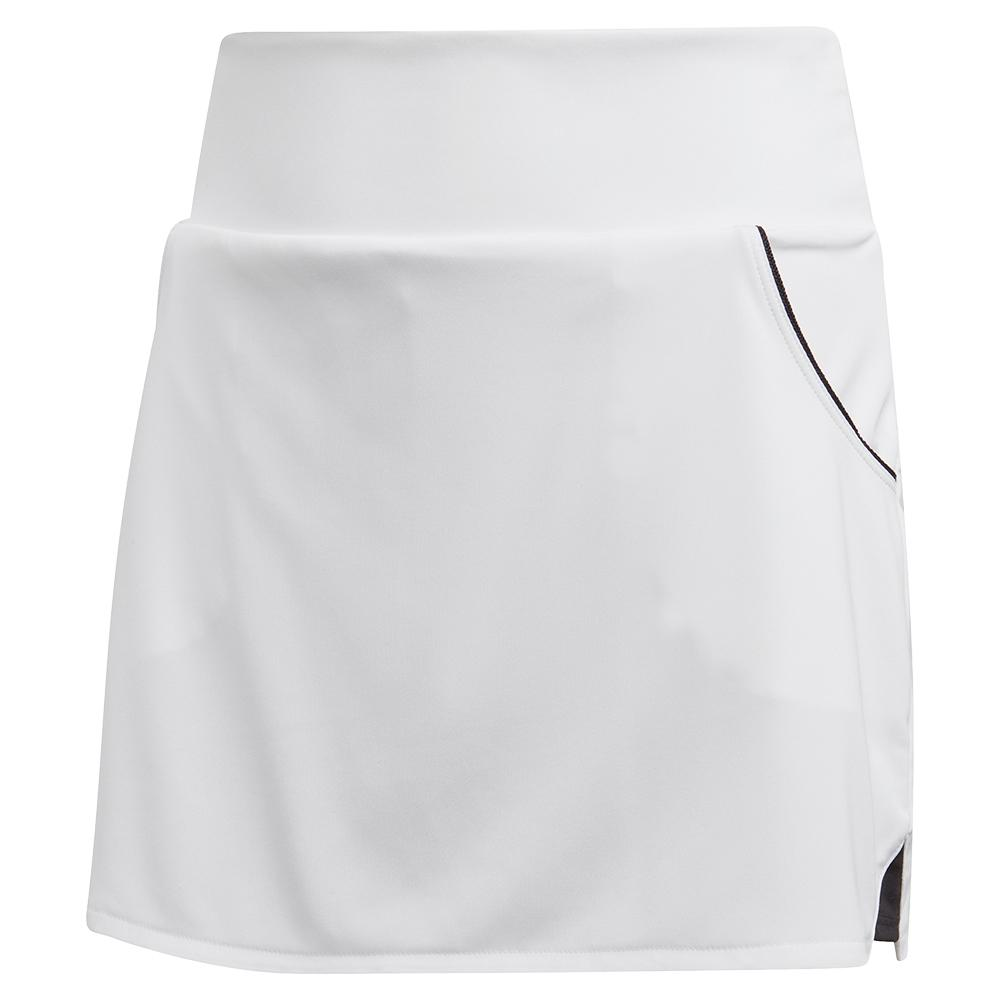 Girls ` Club Tennis Skort White And Matte Silver