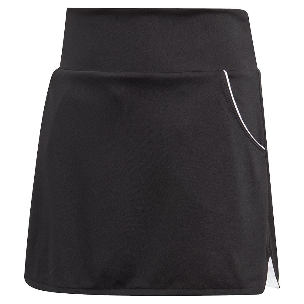 Girls ` Club Tennis Skort Black And Matte Silver