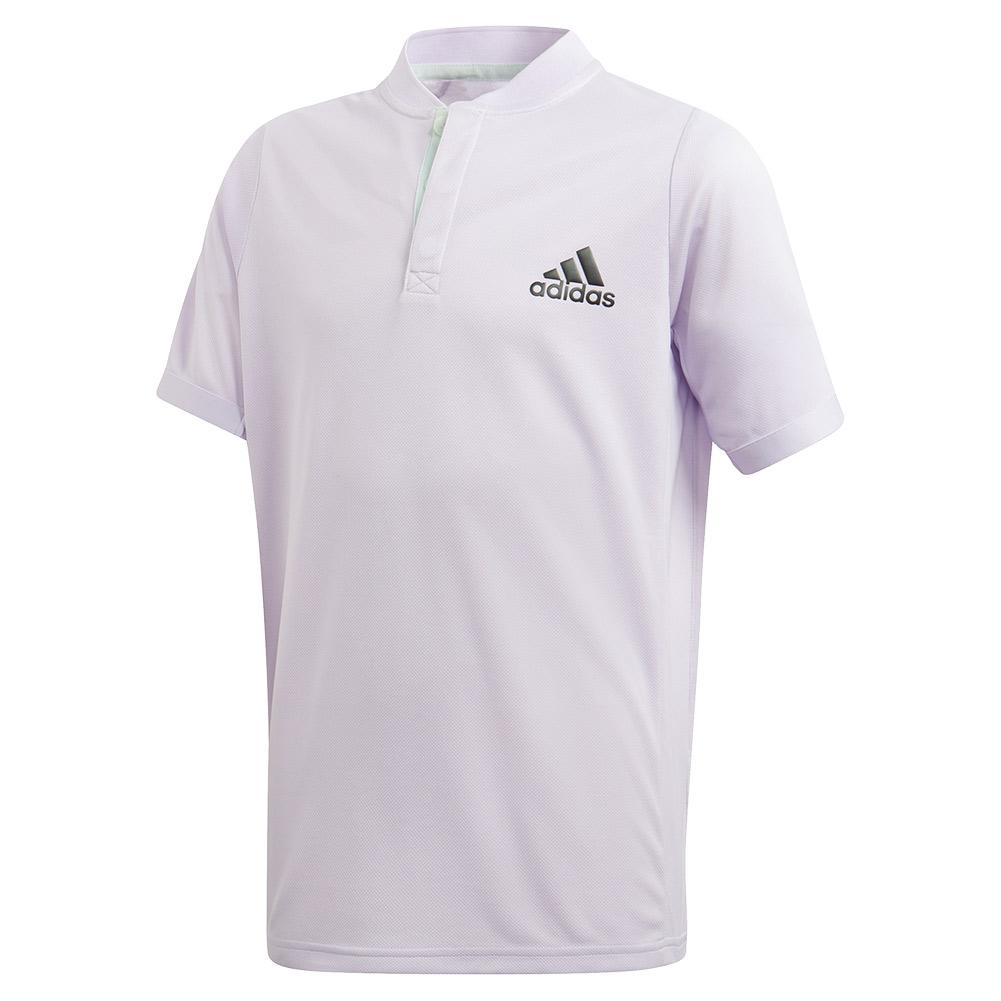 Boys ` Heat.Rdy Freelift Tennis Polo Purple Tint And Legend Earth