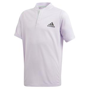 Boys` HEAT.RDY FreeLift Tennis Polo Purple Tint and Legend Earth