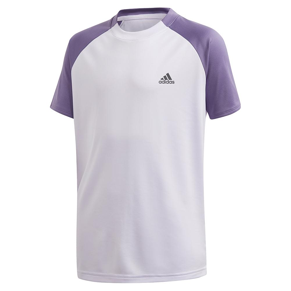 Boys ` Club Tennis Top Purple Tint And Tech
