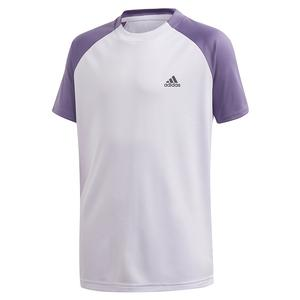 Boys` Club Tennis Top Purple Tint and Tech