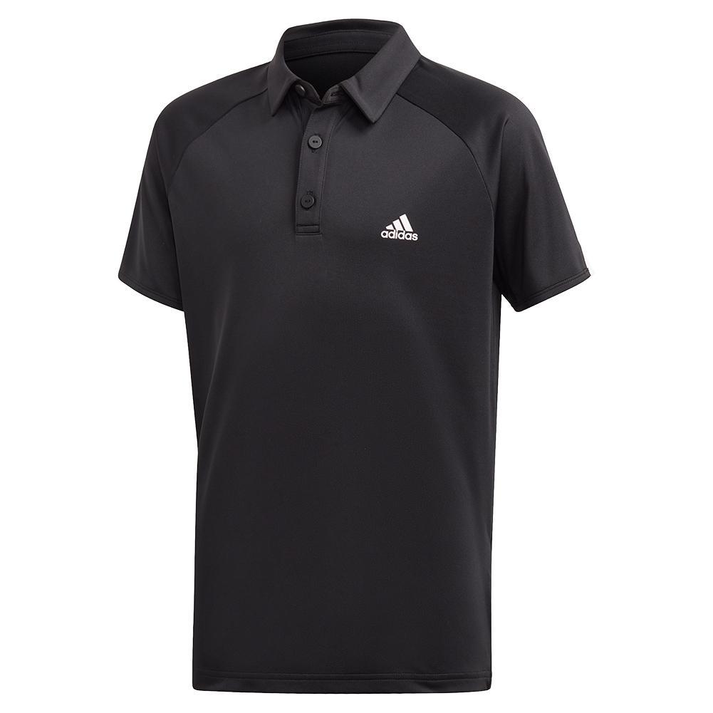 Boys ` Club Tennis Polo Black And White