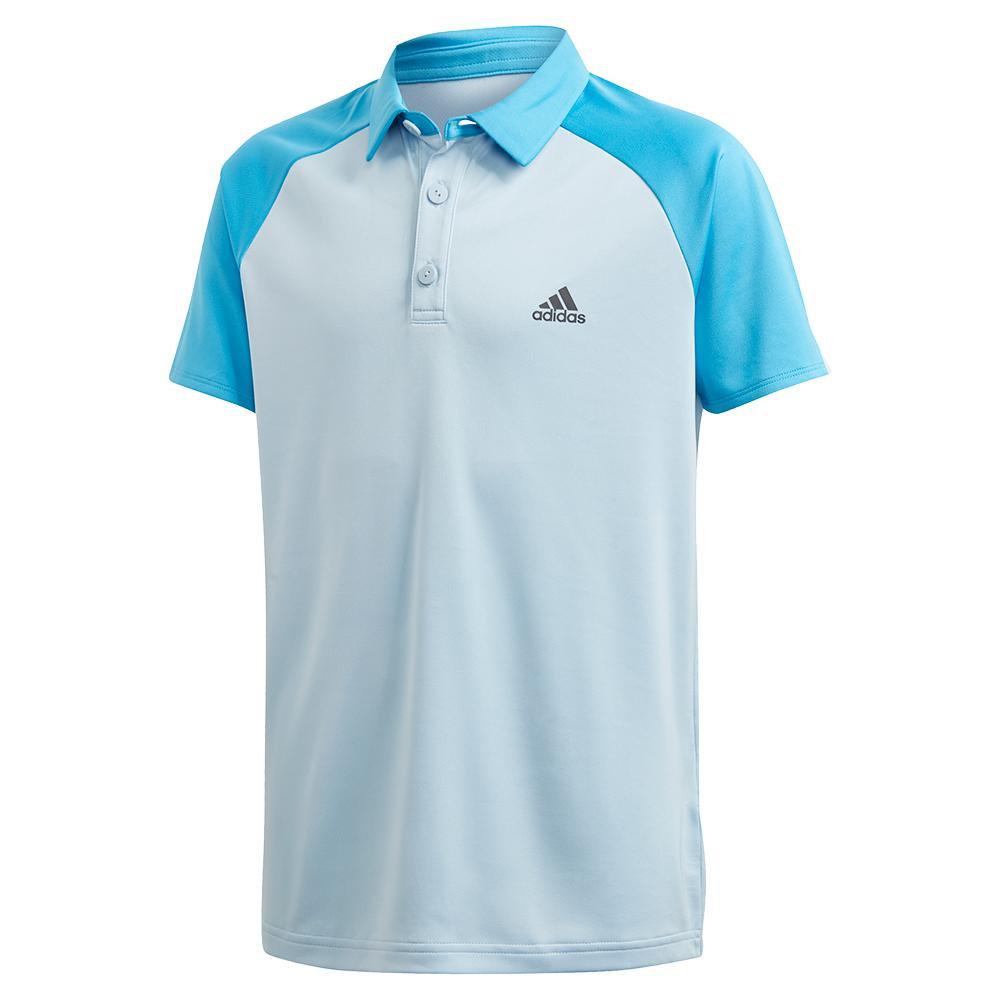 Boys ` Club Tennis Polo Easy Blue And Fresh Splash