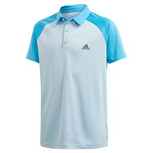 Boys` Club Tennis Polo Easy Blue and Fresh Splash