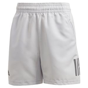 Boys` Club 3 Stripes 5 inch Tennis Short Dash Grey and Grey Six