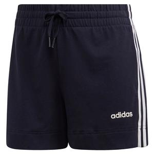Women`s 3 Stripes Training Short Legend Ink and White