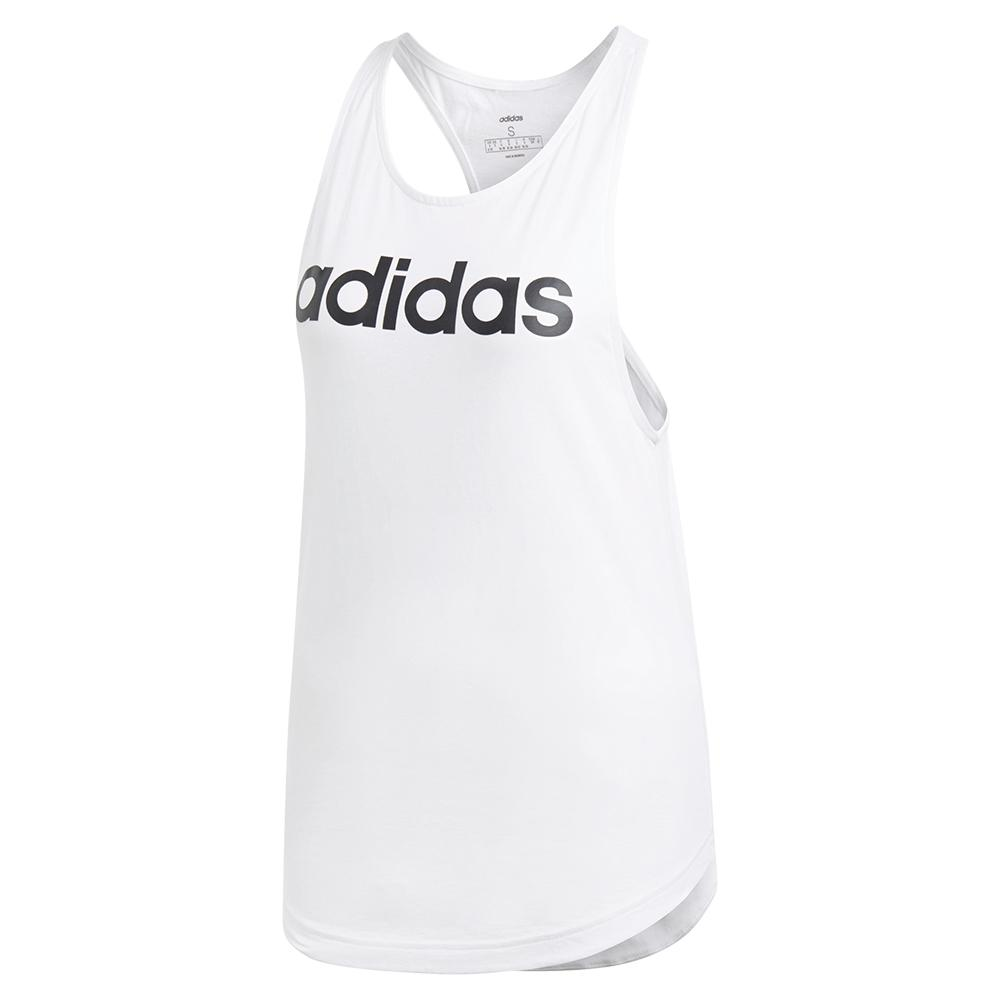 Women's Loose Training Tank White And Black