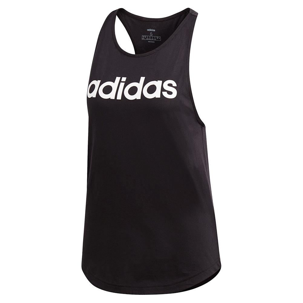 Women's Loose Training Tank Black And White