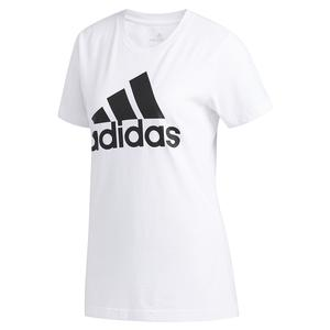 Women`s Basic Badge of Sport Training Tee White