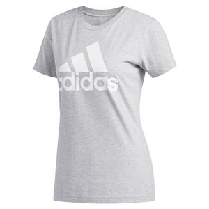 Women`s Basic Badge of Sport Training Tee Medium Grey Heather