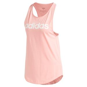 Women`s Loose Training Tank Glory Pink and White