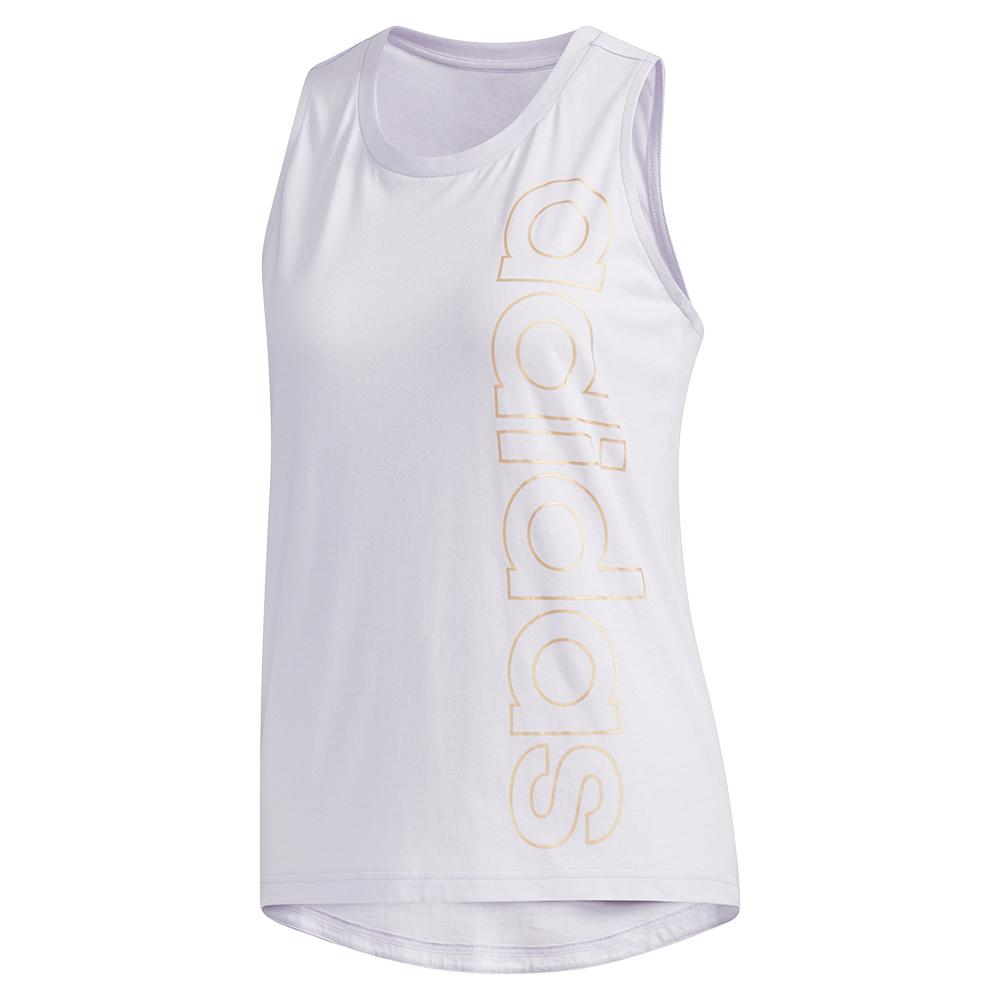 Women's Branded Training Tank Purple Tint And Copper Metallic