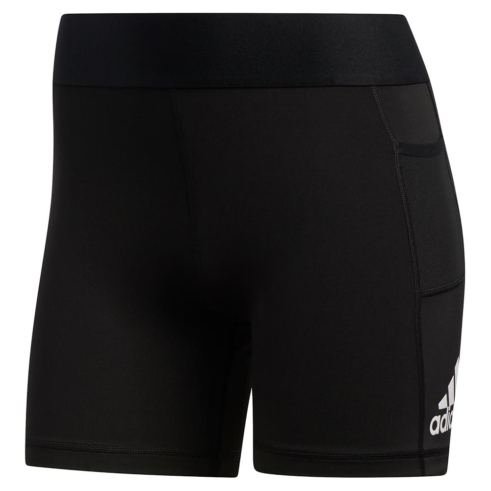 Women's Alphaskin Support 3 Inch Training Short Black And White