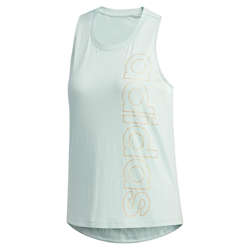 Women's Branded Training Tank Green Tint And Copper Metallic