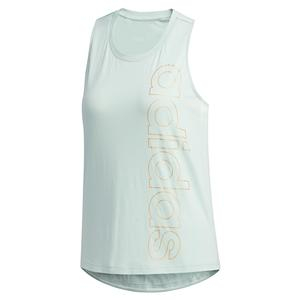 Women`s Branded Training Tank Green Tint and Copper Metallic