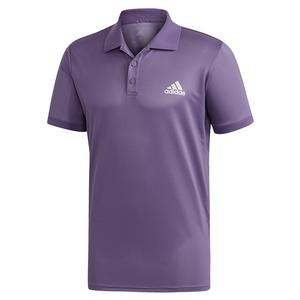Men`s Club Solid Tennis Polo Tech Purple and Matte Silver