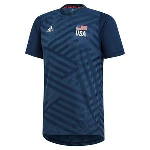 Men`s USA Volleyball Replica Top Mineral Blue and Collegiate Navy