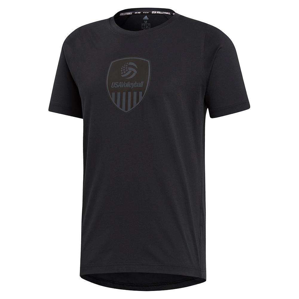 Men's Usa Volleyball Tee Black And Carbon