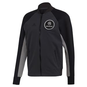 Men`s USA Volleyball Varsity Jacket Carbon and Black
