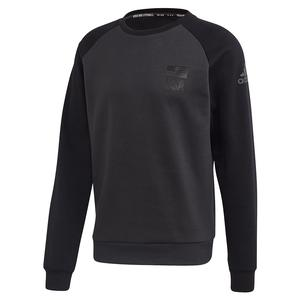 Men`s USA Volleyball Crew Neck Sweatshirt Carbon and Black