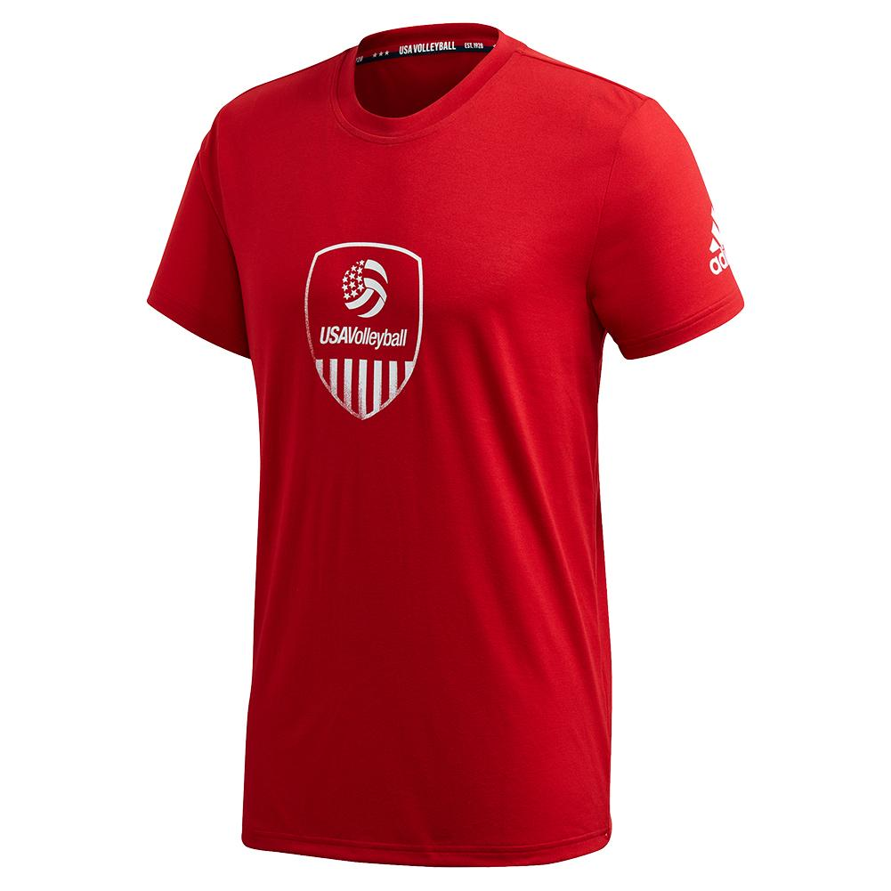 Men's Usa Volleyball Tee Team Power Red