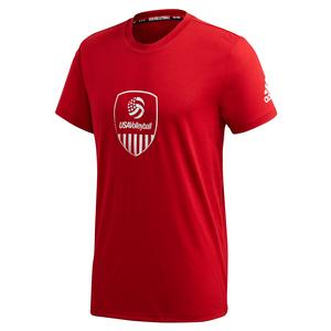 Men`s USAV Tee Team Power Red