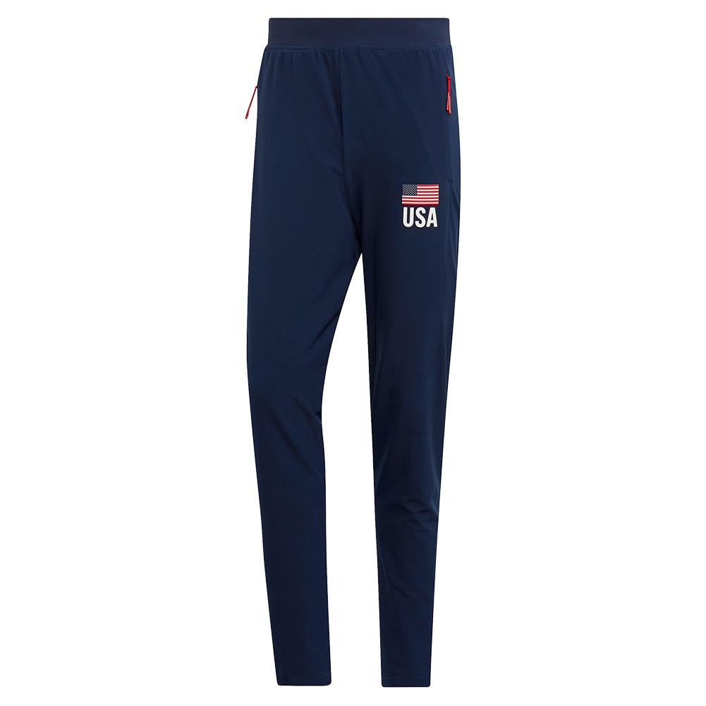 Men's Usa Volleyball Pants Collegiate Navy And White