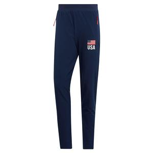Men`s USA Volleyball Pants Collegiate Navy and White