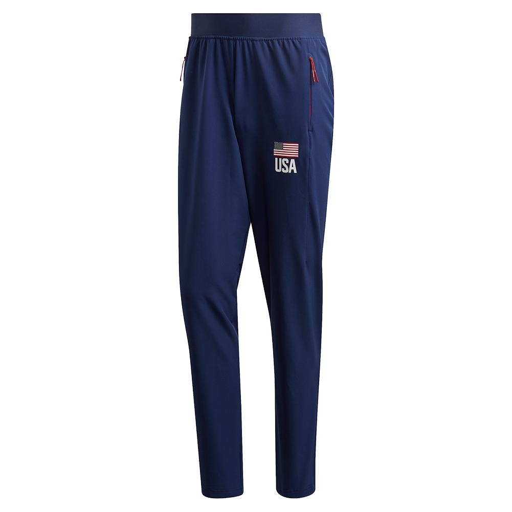 Men's Usa Volleyball Pants Team Navy Blue And White