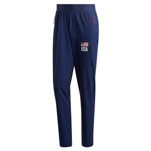 Men`s USAV Pants Team Navy Blue and White