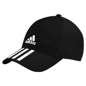 Unisex 3 Stripes Aeroready Tennis Cap Black and White