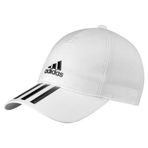 Unisex 3 Stripes Aeroready Tennis Cap White and Black