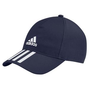 Unisex 3 Stripes Aeroready Tennis Cap Legend Ink and White