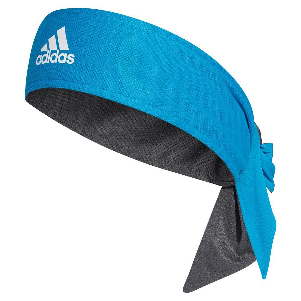 Reversible Tennis Tieband Sharp Blue And Grey Six