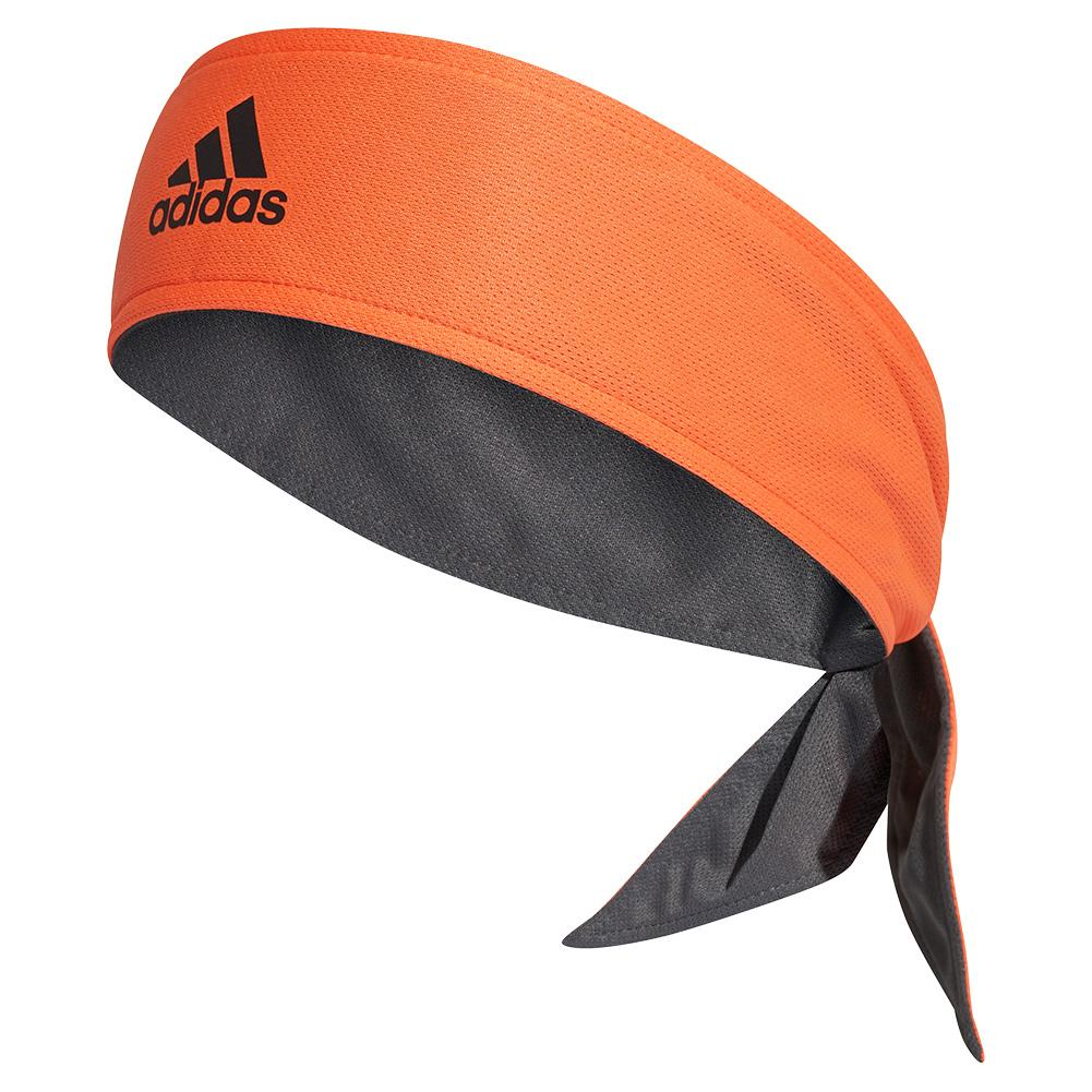Reversible Tennis Tieband True Orange And Grey Six