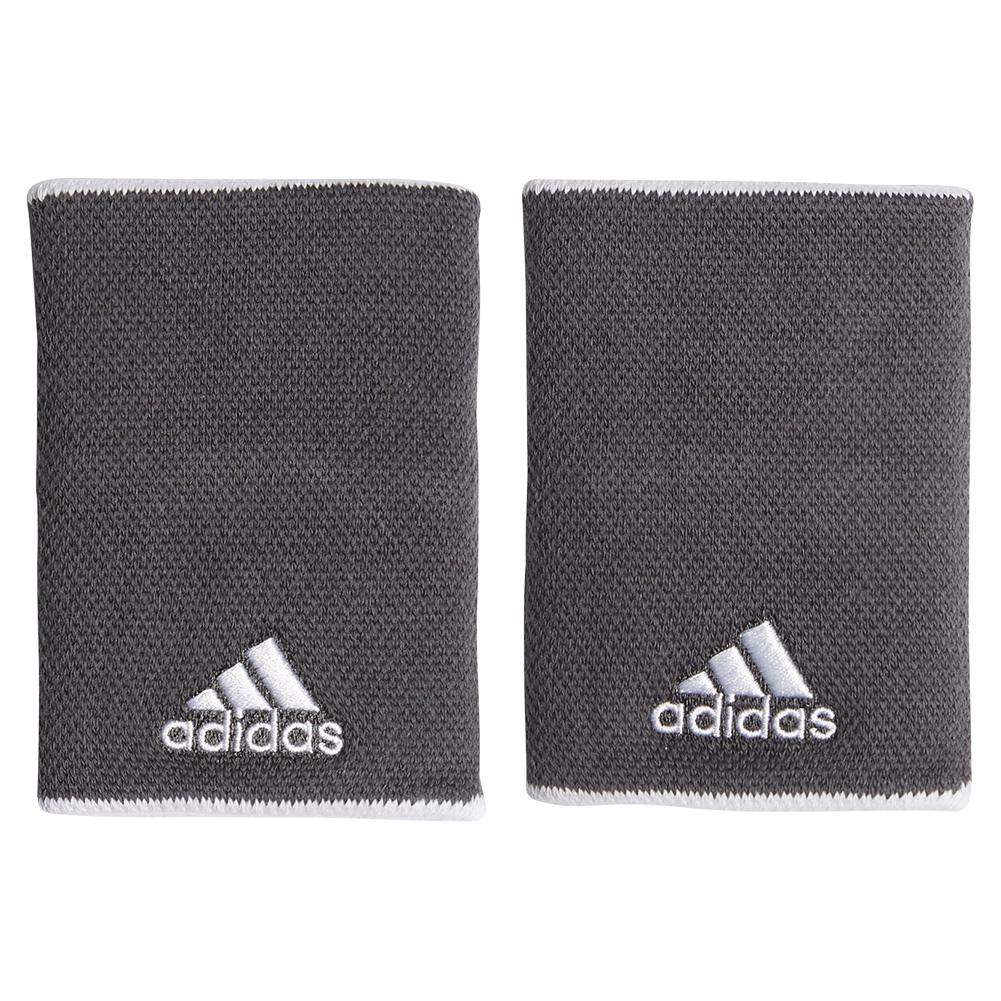 Large Tennis Wristband Grey Six And White
