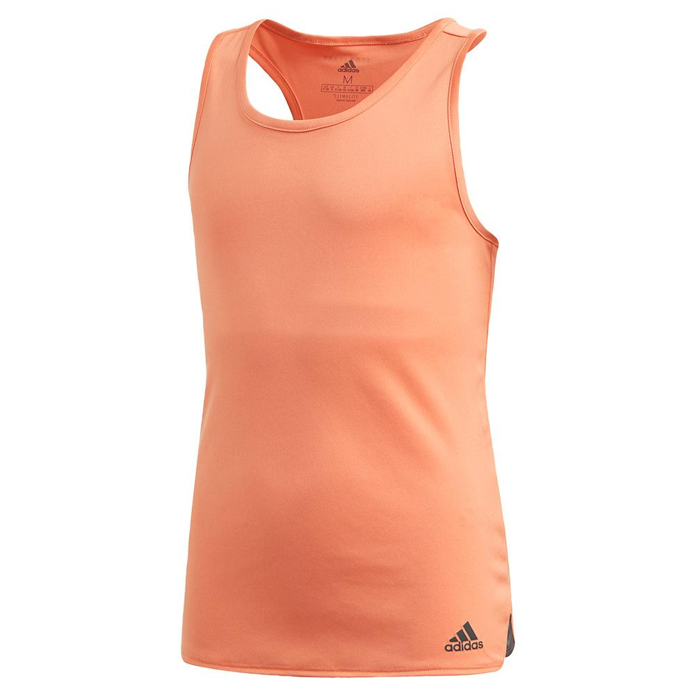 Girls ` Club Tennis Tank Amber Tint And Grey Six