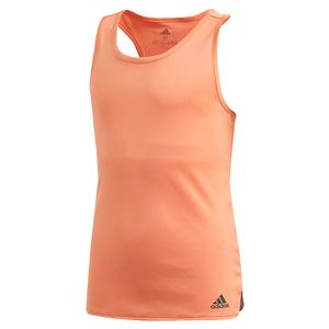 Girls` Club Tennis Tank Amber Tint and Grey Six