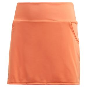 Girls` Club Tennis Skort Amber Tint and Grey Six