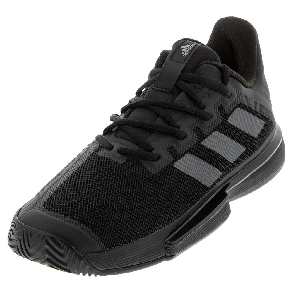 Men's Solematch Bounce Tennis Shoes Core Black And Night Metallic