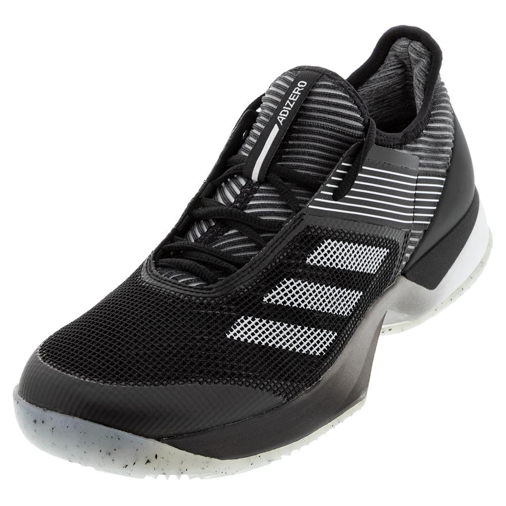 Women's Adizero Ubersonic 3 Clay Tennis Shoes Core Black And White