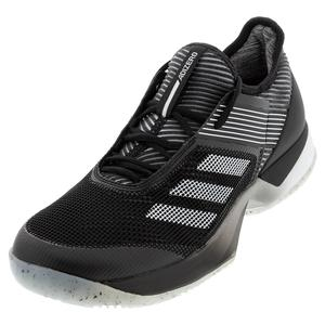 Women`s Adizero Ubersonic 3 Clay Tennis Shoes Core Black and White
